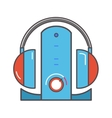 Wireless headphones with dock station flat icon vector image