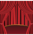 Red curtains and stage vector image