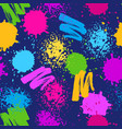 colorful seamless pattern grunge background with vector image vector image