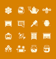 honey apiary icons set vector image