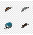 isometric transport set of train oil wagon vector image