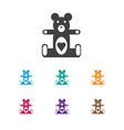 Of kid symbol on teddy-bear vector image