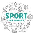 line flat circle sport winners vector image