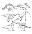 stegosaurus triceratops tyrannosaurus and other vector image