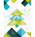 Christmas tree and decorations on winter vector image