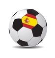 soccer ball with the flag of Spain vector image