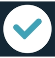 Yes flat blue and white colors round button vector image
