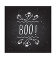 Boo - typographic element vector image