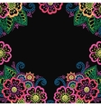Henna flower ornament frame vector image