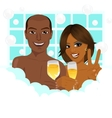 african american couple taking a bath vector image