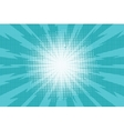 Blue pop art retro background with exploding rays vector image