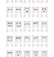 White counter smiles vector image vector image