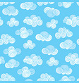 abstract swirl cloud seamless pattern blue sky vector image