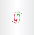 arrows up and down icon symbol vector image