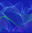 blue wavy shapes background vector image