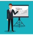 Businessman training processisolated icon design vector image