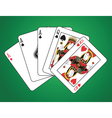 Full house of three aces and two queens vector image