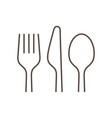 kitchen utensils linear vector image
