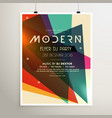 modern retro style party flyer poster template vector image