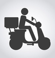 scooter bike vector image