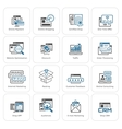 Shopping and Marketing Icons Set vector image
