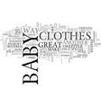What do you do when baby outgrows his clothes vector image