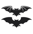 silhouette of bat vector image