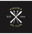 Winter Sports Ski Club Label Vintage Mountain vector image