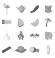Sri Lanka travel icons set monochrome style vector image
