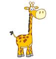 Giraffe Cartoon Mascot Character vector image vector image