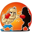cartoon boxer vector image vector image