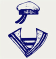Sailor clothing vector image