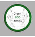 Organic Farm Eco Green label vector image