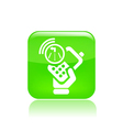 navigate phone icon vector image vector image