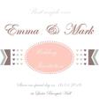 Wedding invitation card with hearts vector image