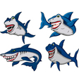 shark collection vector image vector image