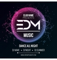 EDM Club Music Party Template Dance Party Flyer vector image