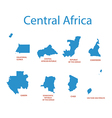 Central Africa - maps of territories vector image