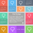 Dislike icon sign Set of multicolored buttons with vector image