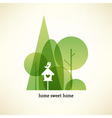 Eco concept card vector image