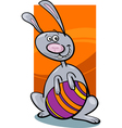 funny easter bunny cartoon vector image