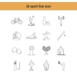 isolated sport icons in line design with long vector image