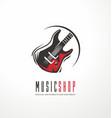 music shop logo design concept vector image