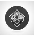 Sushi black round icon vector image