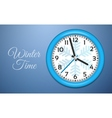 Winter Clocks on cold blue wall vector image vector image