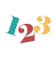 123 numbers drawing isolated icon design vector image