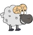 Black Ram Cartoon Mascot Character vector image