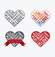 Valentines day Love Font Type vector image