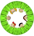 Children And Grass vector image vector image