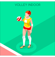 Volleyball 2016 Summer Games 3D Isometric vector image vector image